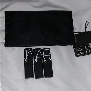 3 NARS mini lipsticks